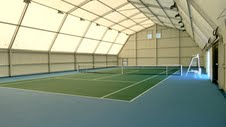 Aluminium Framed Polygon structure - Tennis single court