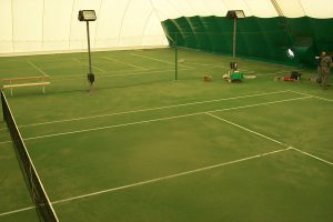 Tennis Dome with Indirect Lighting in stantions
