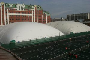 2no.Domes providing cover for the winter