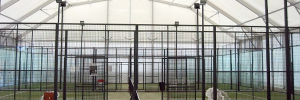 Temporary and Semi Permanent Padel Tennis Structure